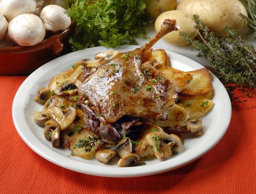cuisse de canard confite et pommes de terre